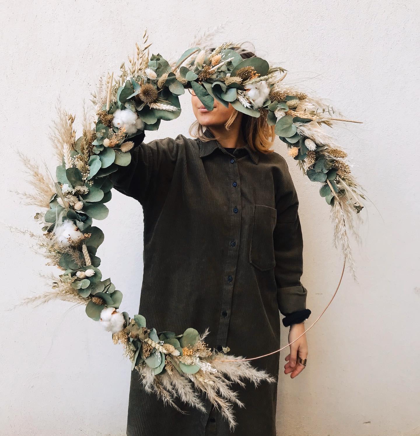 Fleuriste indépendant Rennes couronne de fleurs
