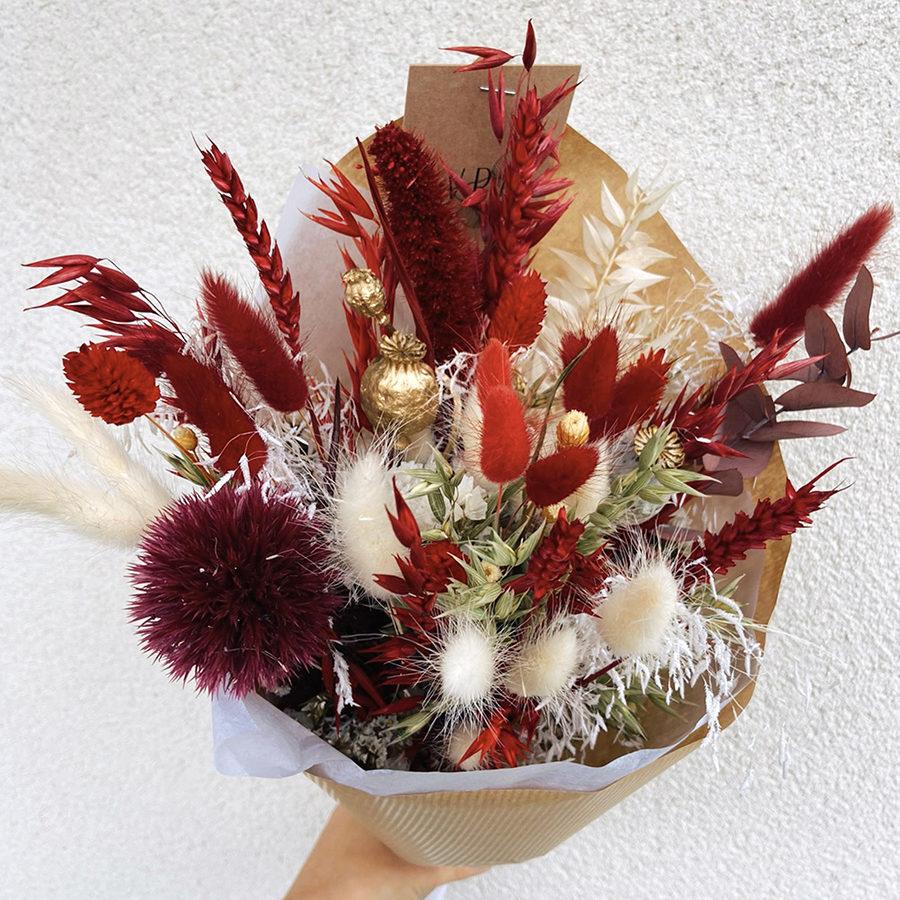 Snow White - Bouquet de fleurs séchées